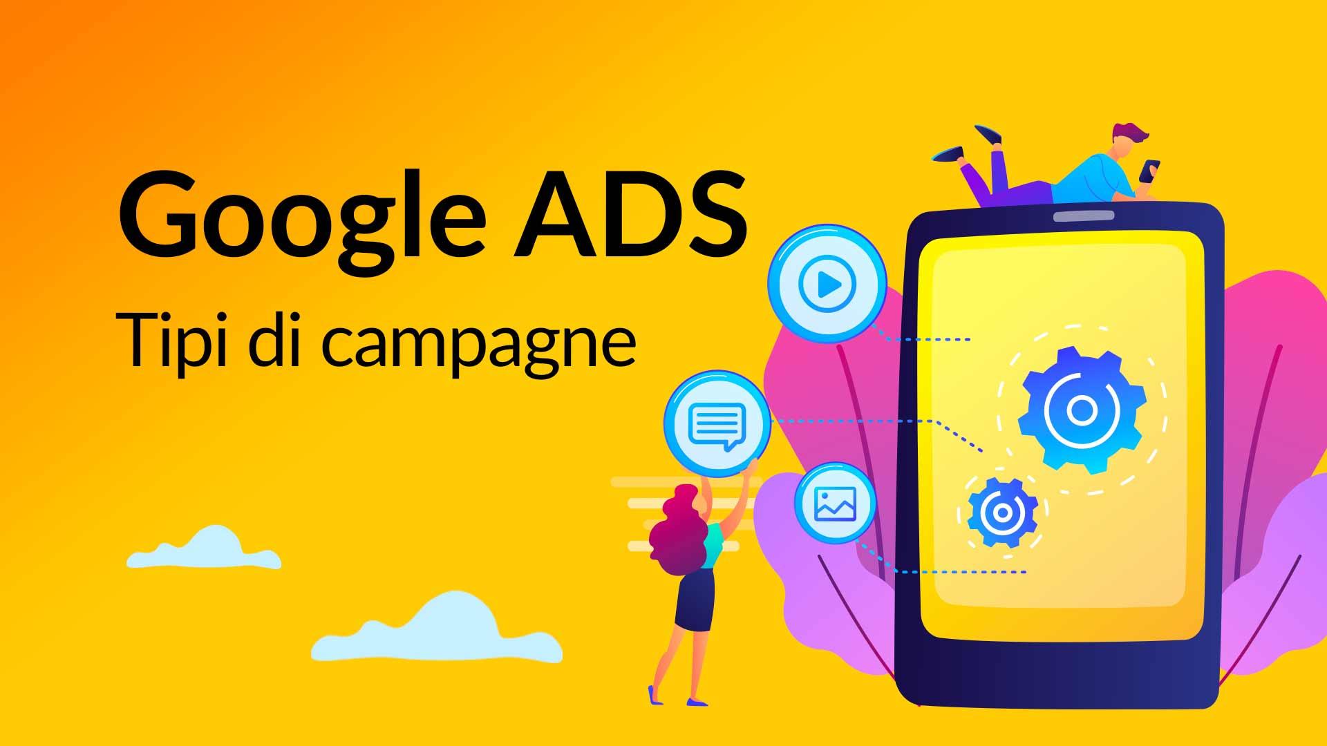 Tipi di campagne Google ADS